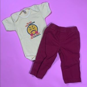 No More Kisses! Outfit for 12 months